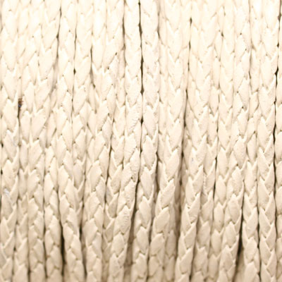 Braided Leather String 3 mm