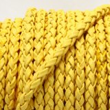 Braided Imitation Leather String 4 mm