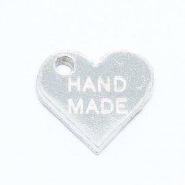 "Heart shaped Tag ""Hand Made""Sn"