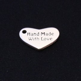 "Heart shaped Tag ""Hand Made"""