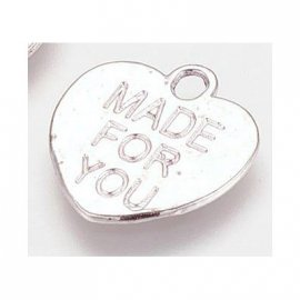 "Heart shaped Tag ""Made for You"""