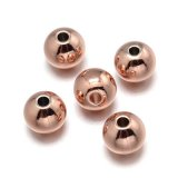 Rose Gold Brass Bead  3mm